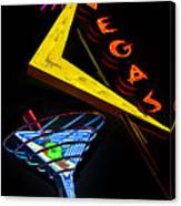 Vegas Martini Canvas Print