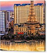 Vegas Water Show Canvas Print