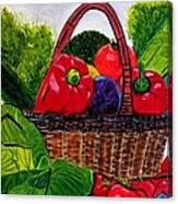 Veges Basket Canvas Print