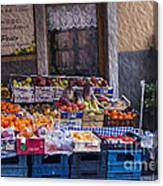 Vegetable Stand Italy Canvas Print