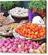 Vegetable Vendor - Omkareshwar India Canvas Print
