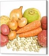 Vegetables And Supplement Pills Canvas Print