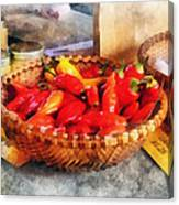 Vegetables - Hot Peppers In Farmers Market Canvas Print