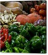Vegetables In Chinese Market Canvas Print