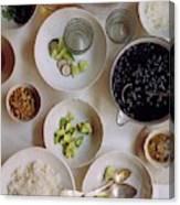 Vegetarian Dishes Canvas Print