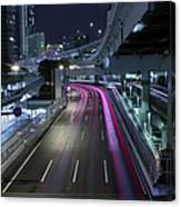 Vehicle Light Trails On National Route 1 Canvas Print
