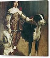 Velazquez, Pupil Of 17th Century. Court Canvas Print