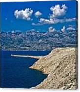 Velebit Mountain From Island Of Pag Canvas Print
