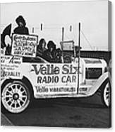 Velie Six Radio Car Canvas Print