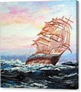 Veliero In Navigazione Canvas Print