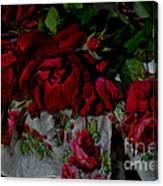 Red Velvet Roses Canvas Print