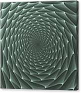 Velveteen Vortex Gray Canvas Print