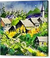 Vencimont Watercolor  Canvas Print