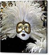 Venetian Golden Carnival Mask Canvas Print