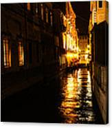 Venetian Golden Glow Canvas Print
