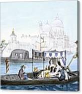 Venetian Gondola, From Vedute Dei Canvas Print
