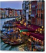 Venetian Grand Canal At Dusk Canvas Print