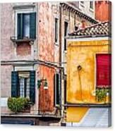 Venetian Houses. Italy Canvas Print