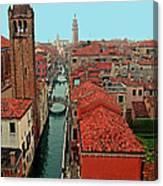 Venetian Street Scene Canvas Print