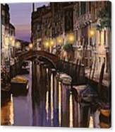 Venezia Al Crepuscolo Canvas Print