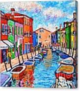 Venezia Colorful Burano Canvas Print