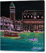 Venice At Night Canvas Print