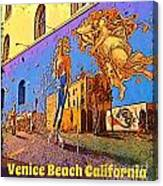 Venice Beach Posterized Canvas Print