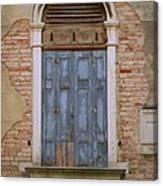 Venice Blue Arched Window Canvas Print