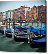 Venice Boats Canvas Print