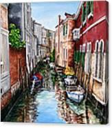 Venice Canal 4 Canvas Print
