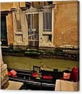 Venice Canal Gondola Awaits Canvas Print