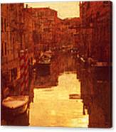Venice Canal Sunset Canvas Print