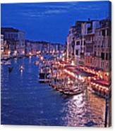 Venice - Canale Grande By Night Canvas Print