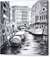 Venice City Of Love Canvas Print