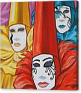 Venice Costumes Canvas Print