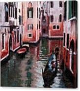 Venice Gondola Ride Canvas Print