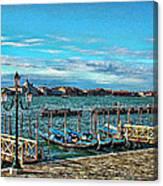 Venice Gondolas On The Grand Canal Canvas Print