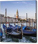 Venice Grand Canal And Goldolas Canvas Print