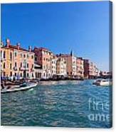 Venice Grand Canal View Italy Canvas Print