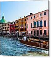 Venice Grand Canal View Italy Sunny Day Canvas Print