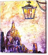Venice Italy Watercolor Painting On Yupo Synthetic Paper Canvas Print
