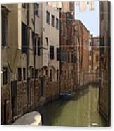 Venice Laundry Day Canvas Print