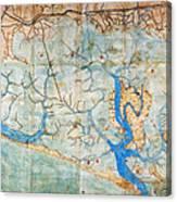 Venice: Map, 1546 Canvas Print
