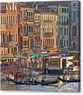 Venice Palazzi At Sundown Canvas Print