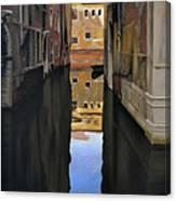 Venice Reflections - Pastel  Canvas Print