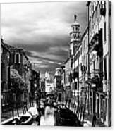 Venice Side Canal Canvas Print