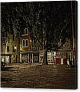 Venice Square At Night Canvas Print