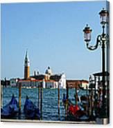 Venice View On Basilica Di San Giorgio Maggiore Canvas Print