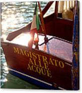 Venice Water Authority Boat Canvas Print
