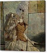 Venitian Carnival-bird In A Cage Canvas Print